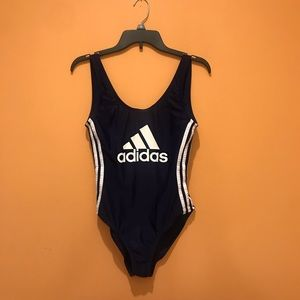 Adidas Core Solid Logo One-Piece Swimsuit